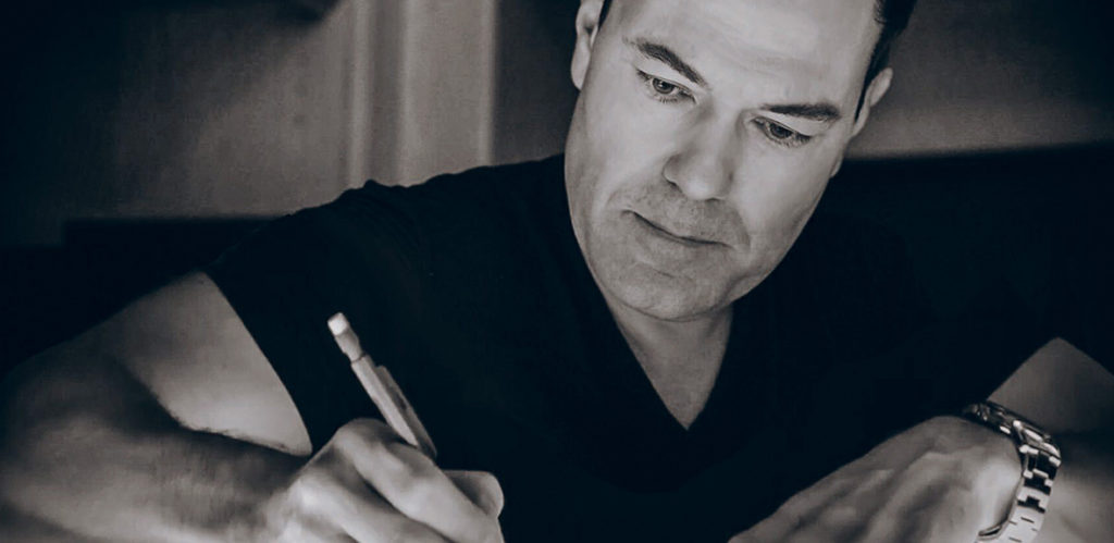 Steven sketching the TBL label